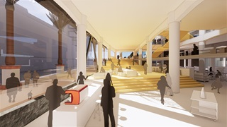 Artist impression of proposed Wellington Central Library north stair view