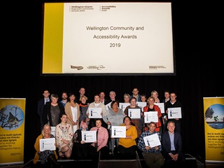Winners of the 2019 Wellington Community and Accessibility Awards.