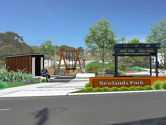 Image showing a proposed layout for Newlands Park.