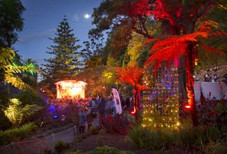 Image of Gardens Magic in the Soundshell with light display