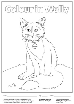 Illustration of Mittens for colouring in competition