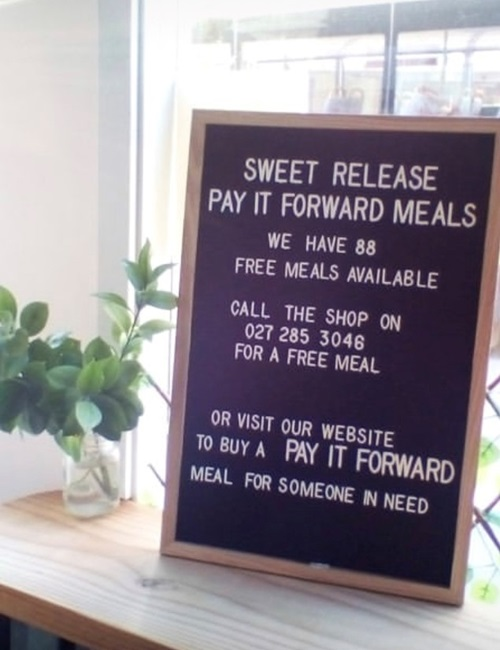Sweet Release have launched a pay-it-forward meal initiative.