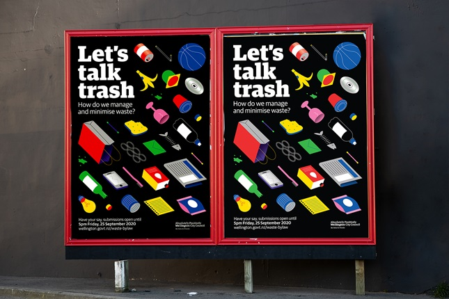 Image of Lets talk trash poster board