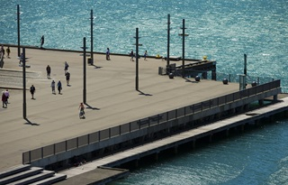 Photo of Wellington waterfront in summer.