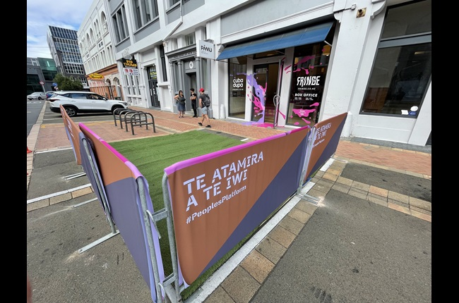 Parklets pop-up as Innovating Streets pilot launches