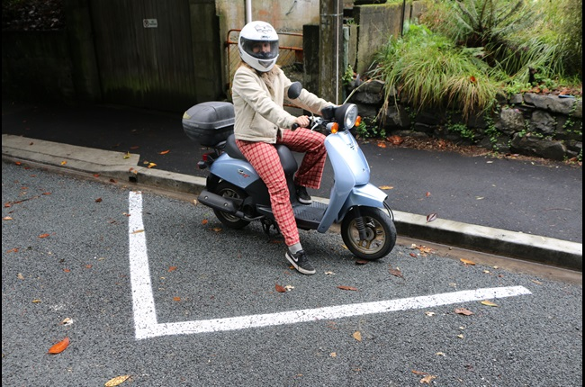 Parking for scooters and motorbikes with new trial