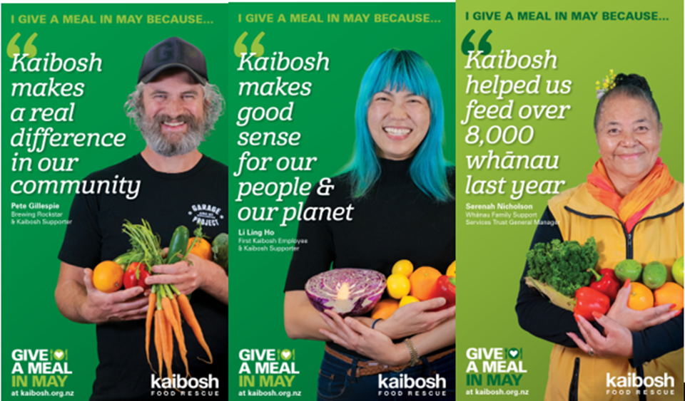 Kaibosh Give a Meal in May champions for campaign