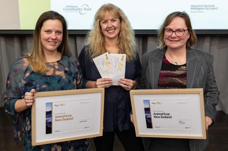 Image of Animal Evac the Wellington Community Award supreme winners for 2021