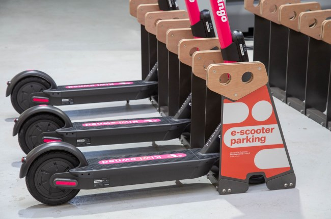 New Ruru racks for e-scooter parking in central Wellington