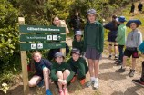 A group of children from Newlands Primary School at Te Ara Paparārangi track.