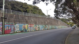 Retaining wall on Chaytor Street.