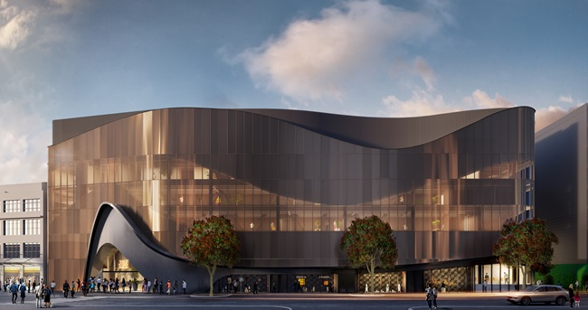 Artist impression Convention Centre from Wakefield Street