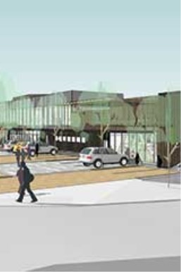 Artist impression of southwest approach to new Johnsonville Community Hub.