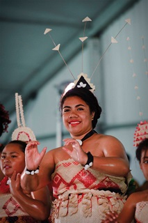 Pacific Island performer.