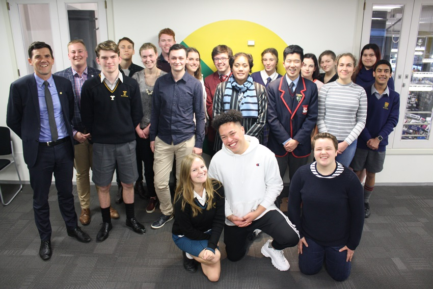 Wellington City Youth Council with Mayor Justin Lester (August 2018)