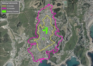 Island Bay walking catchment area.