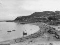 Photo of the beach and waterfront at Island Bay, circa 1920. Taken by Sydney Charles Smith 1888-1972.