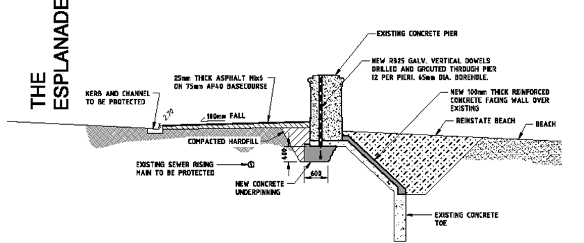 Plan details: sample wall.