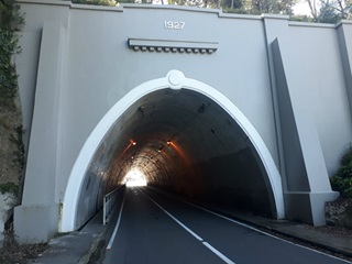 The opening of the Northland Tunnel with no cars inside.