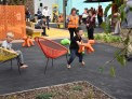 Kids playing at the Tawa town centre upgrade opening.