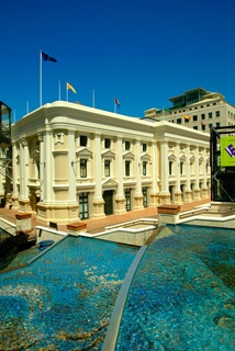 View of Wellington Town Hall from Civic Square.