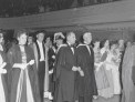 A Victoria University capping ceremony at the Town Hall in 1956.