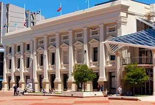 View from Civic Square of Wellington Town Hall, as it looks in 2013.