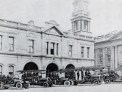 The old fire station opposite the Town Hall in 1924.