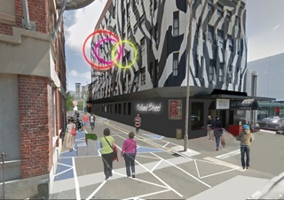 An artist impression of how the entrance of Holland Street will look like once the upgrade project is completed.