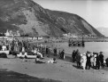 Historic photo of the beach at Island Bay. Taken by Sydney Charles Smith 1888-1972.