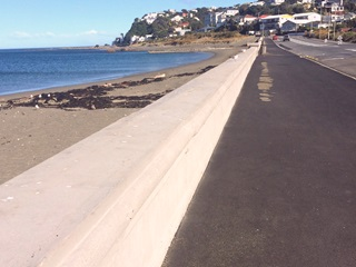 Island Bay seawall content