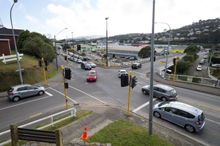 Broderick Road and Moorefield Road intersection, Johnsonville.