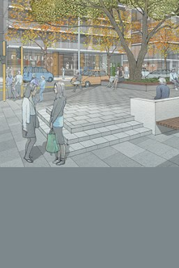 Artists impression of work at Volunteer's corner